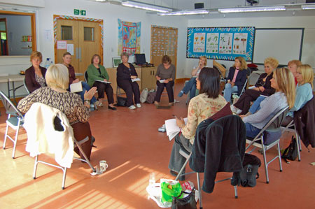 'Yours truly' with all the folk at the October Workshop